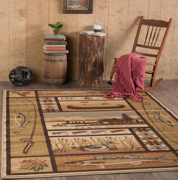 High Point Rustic Lodge Rug Collection | The Cabin Shack