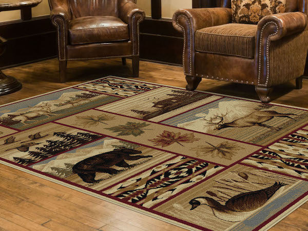 Rocky Mountain High Rustic Lodge Rugs | The Cabin Shack