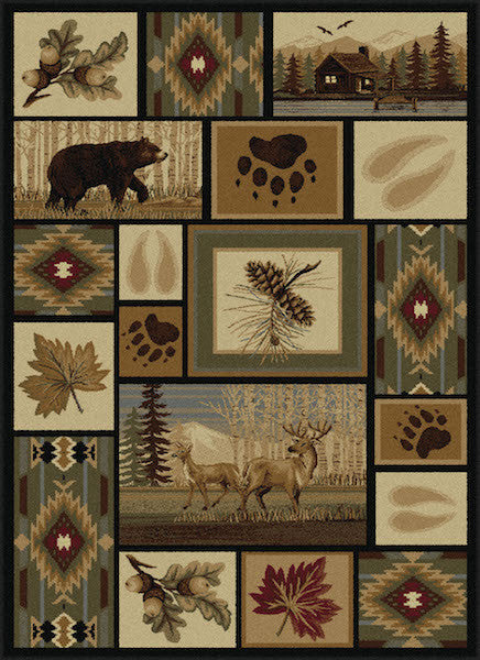 Fall River Rustic Lodge Rug Collection | The Cabin Shack