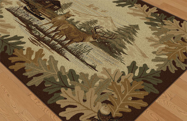 Buck Lake Rustic Lodge Rug Collection 2 | The Cabin Shack
