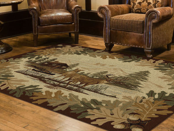 Buck Lake Rustic Lodge Rug Collection 3 | The Cabin Shack