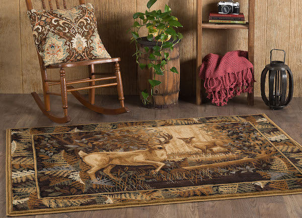 Deer Mates Rustic Lodge Rug Collection 4 | The Cabin Shack