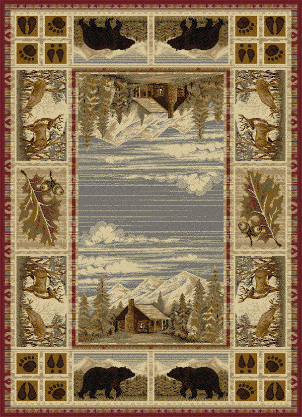 mountain view rustic lodge rugs the cabin shack
