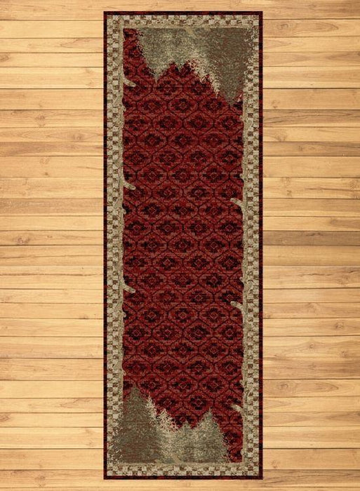 Nature Red Rug Runner | The Cabin Shack