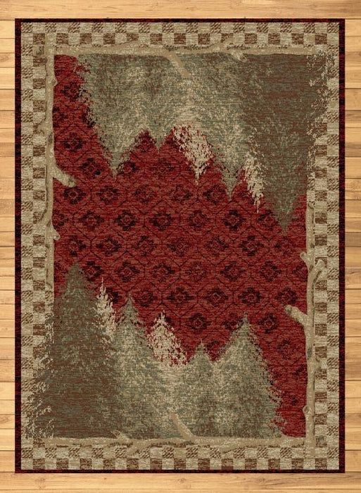Nature Red Rug | The Cabin Shack