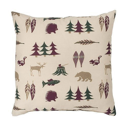 Northern Exposure Accent Pillow Front View | The Cabin Shack