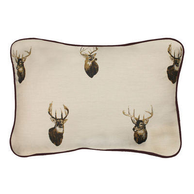 Cabin Decor - Browning Whitetails Oblong Throw Pillow - The Cabin Shack