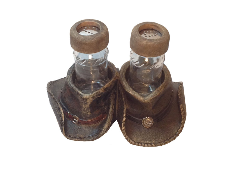 Cabin Decor - Cowboy Hat Salt and Pepper Shaker - The Cabin Shack