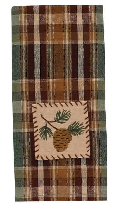 Cabin Decor - Pinecone Decorative Dishtowel - The Cabin Shack