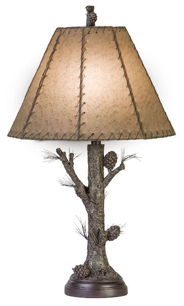 Pinecone Table Lamp for Rustic Decor | The Cabin Shack