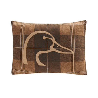 Cabin Decor - Ducks Unlimited Throw Pillow - Plaid - The Cabin Shack