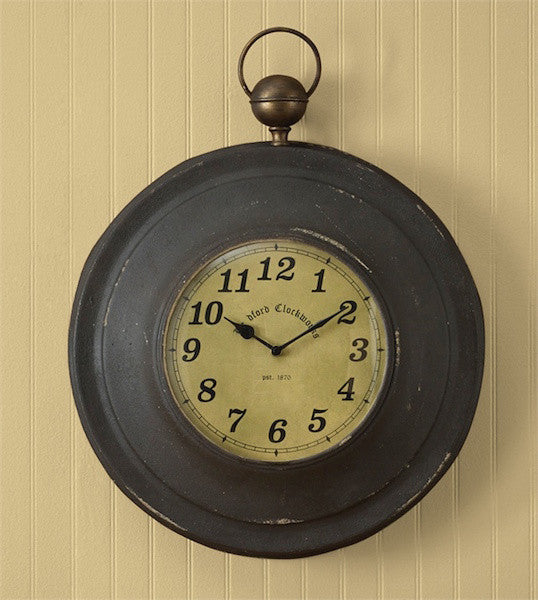 Antique Pocket Watch Clock | The Cabin Shack