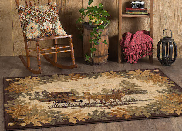 Buck Lake Rustic Lodge Rug Collection 4 | The Cabin Shack