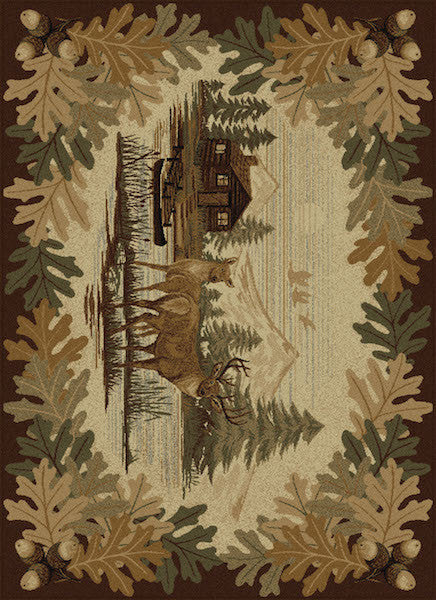 Buck Lake Rustic Lodge Rug Collection | The Cabin Shack