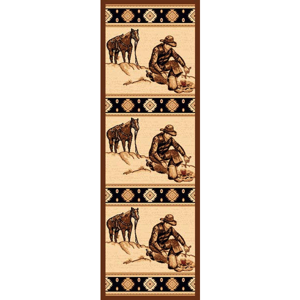 Cowboys Like Us Rustic Lodge Rug Runner | The Cabin Shack
