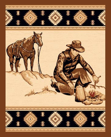 Cowboys Like Us Rustic Lodge Rug | The Cabin Shack