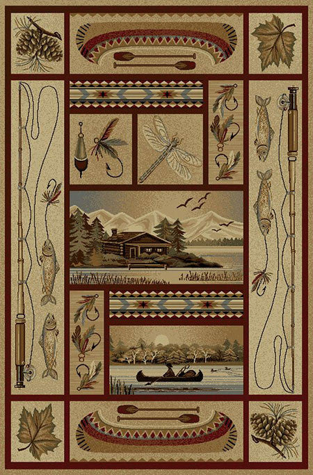 Glacier Bay Rustic Lodge Rug Collection The Cabin Shack