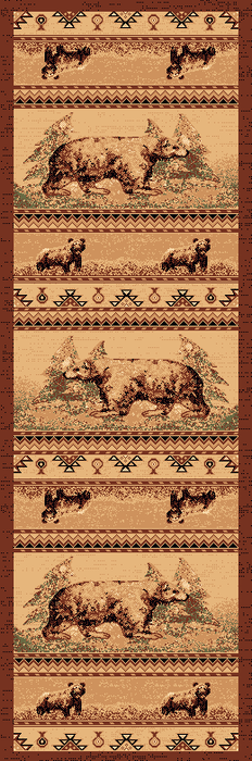 Grizzly Hunt Lodge Rug Collection