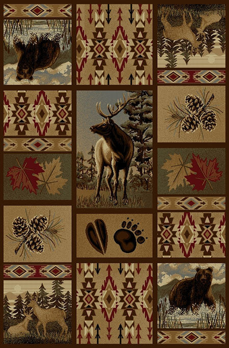 Montana Wild Rustic Lodge Rug Collection | The Cabin Shack