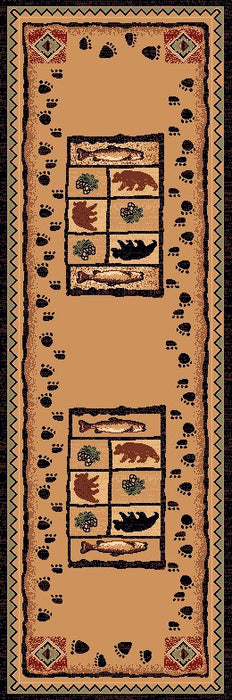 Standing Bear River Rustic Lodge Rug Runner | The Cabin Shack