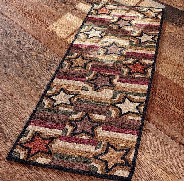 Farmhouse Star Runner Rug | The Cabin Shack