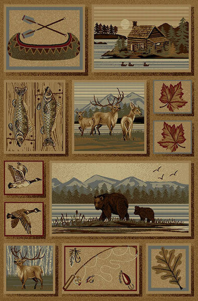 Yakutat Bay Rustic Lodge Rug Collection | The Cabin Shack