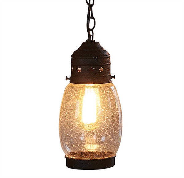 Antique Star Lantern Rustic Pendant Light | The Cabin Shack