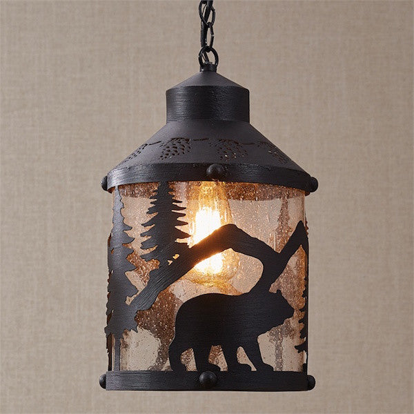 Black Bear Pendant Light for Cabin | The Cabin Shack