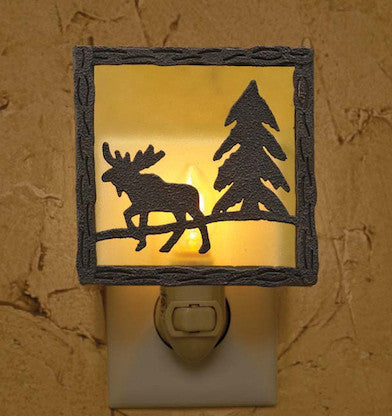 Moose Night Light | Rustic Lighting |The Cabin Shack