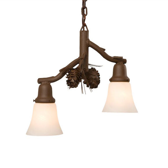 Rustic Pendant | Ponderosa Pine 2 Lights | The Cabin Shack