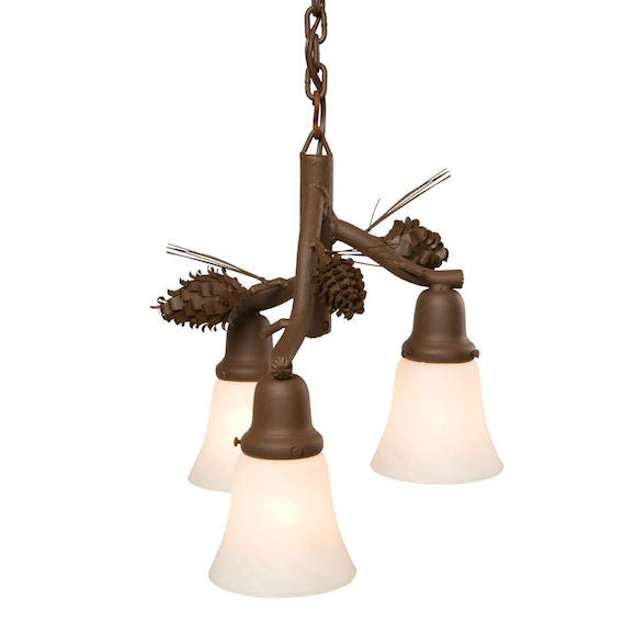 Rustic Pendant | Ponderosa Pine 3 Lights | The Cabin Shack