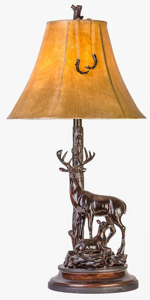 Buck and Doe Table Lamp for Rustic Decor | The Cabin Shack