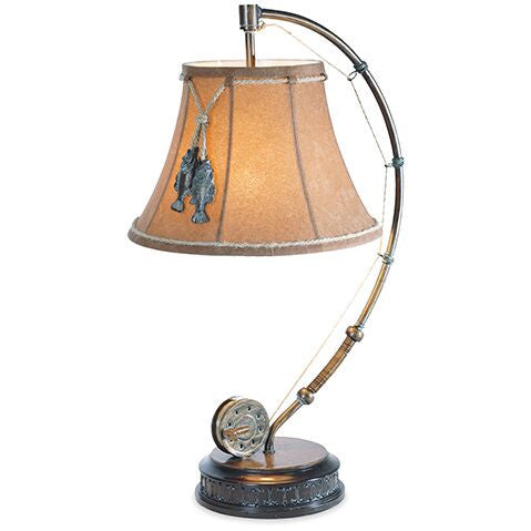 Gone Fishin' Table Lamp for Rustic Decor | The Cabin Shack