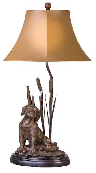 Huntin' Lab Table Lamp for Rustic Decor | The Cabin Shack