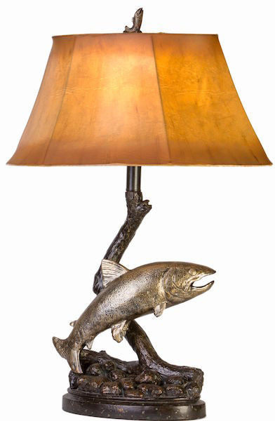 Trout Table Lamp for Rustic Decor | The Cabin Shack