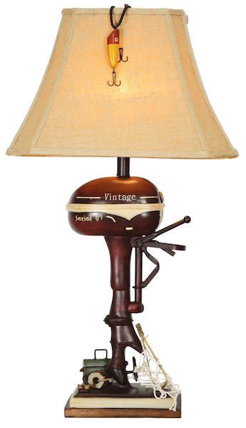 Vintage Motor Table Lamp for Rustic Decor | The Cabin Shack