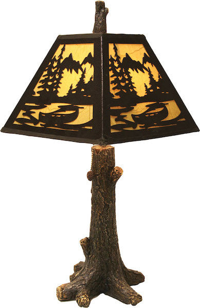 Rustic Mountain Table Lamp | The Cabin Shack