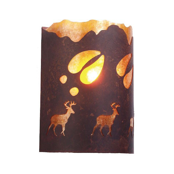 Rustic Wall Sconce | A Deer Was Here | The Cabin Shack