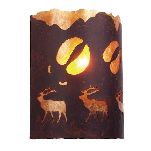 Rustic Wall Sconce | An Elk Was Here | The Cabin Shack