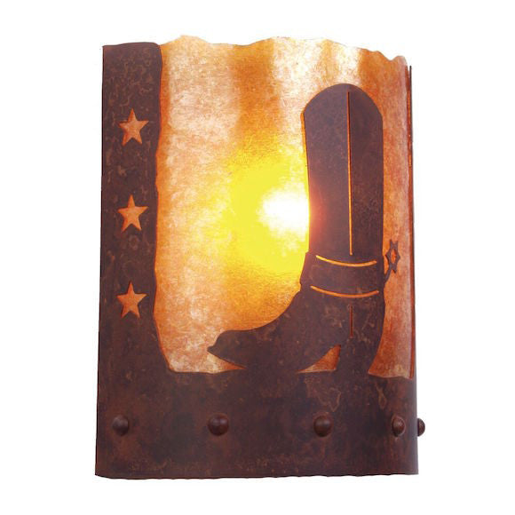 Rustic Wall Sconce | Cowboy Boot and Spur | The Cabin Shack