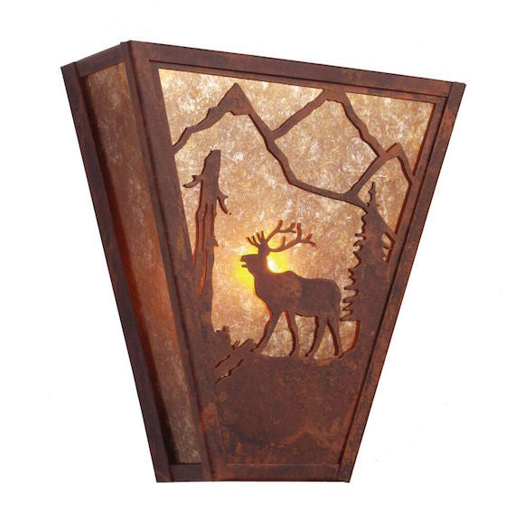 Rustic Wall Sconce | Vegas Elk | The Cabin Shack