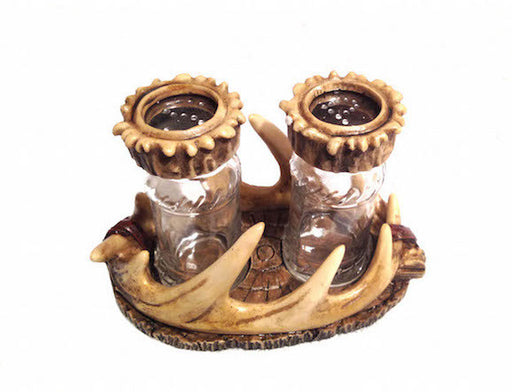 Cabin Decor - Antler Salt and Pepper Set - The Cabin Shack