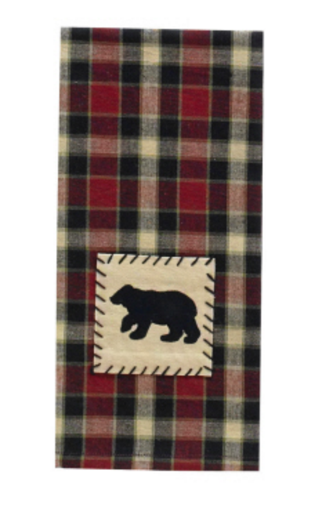 Cabin Decor - Black Bear Dishtowel - The Cabin Shack