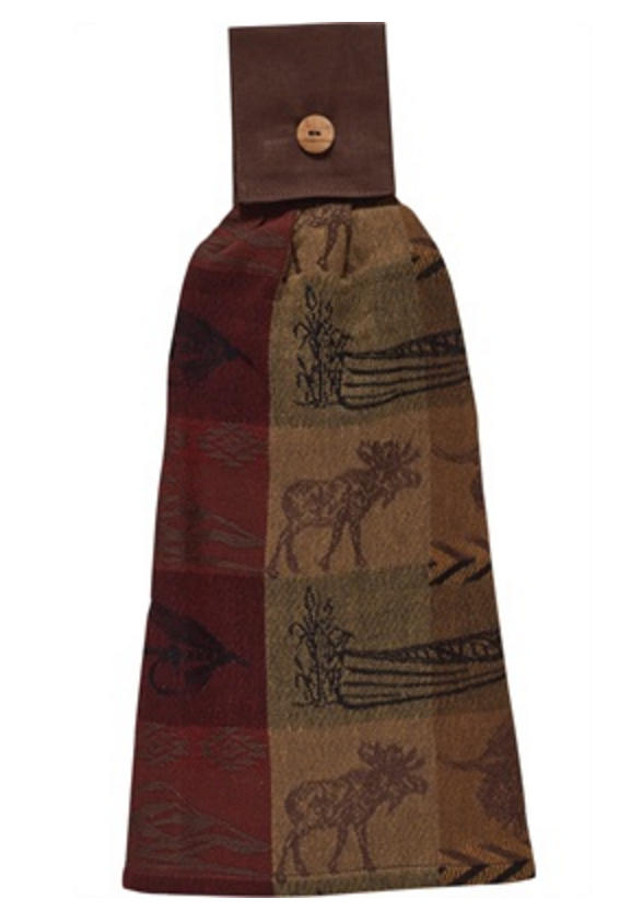 Cabin Decor - High Country Moose Hand Towel - The Cabin Shack