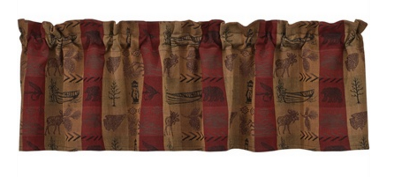 Cabin Decor - High Country Moose Valance - The Cabin Shack
