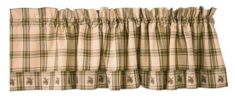 Cabin Decor - Pinecone Valance - The Cabin Shack