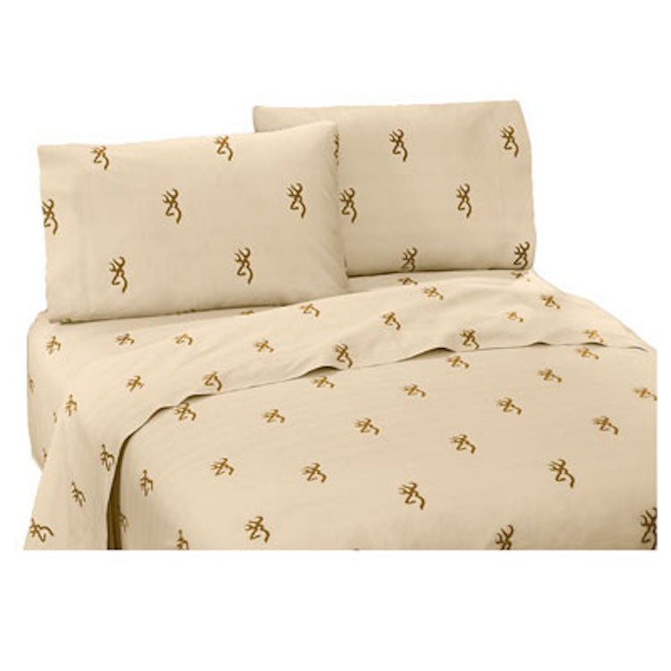 Cabin Decor - Browning Oak Tree Buckmark Sheet Set - The Cabin Shack