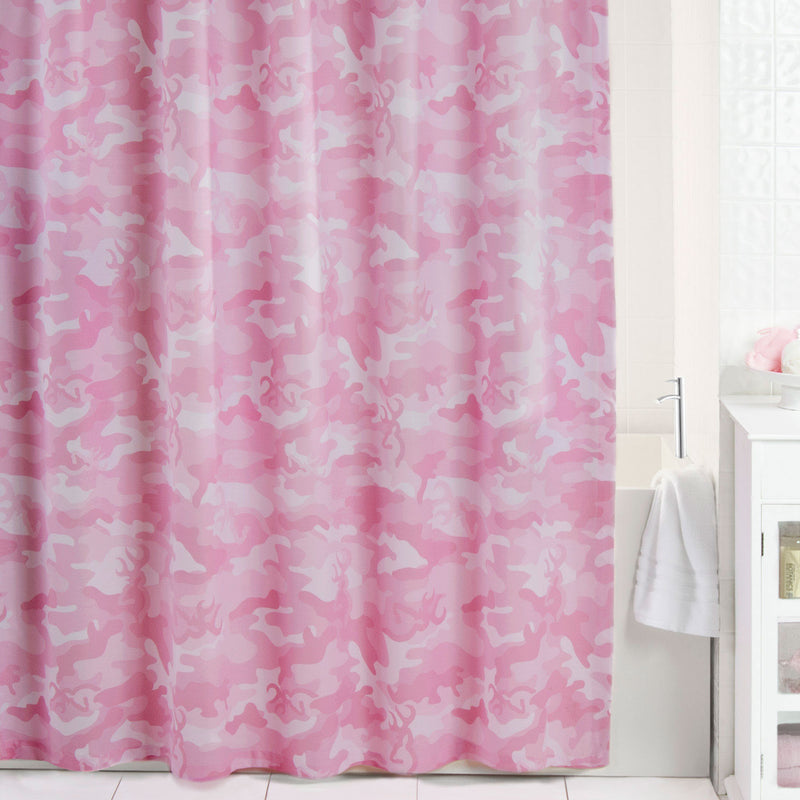 Browning Buckmark Camo Pink Shower Curtain | The Cabin Shack