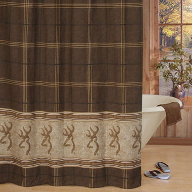 Browning Buckmark Shower Curtain | The Cabin Shack