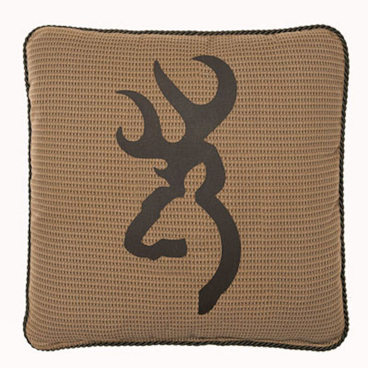 Cabin Decor - Browning Oak Tree Tan Throw Pillow - The Cabin Shack